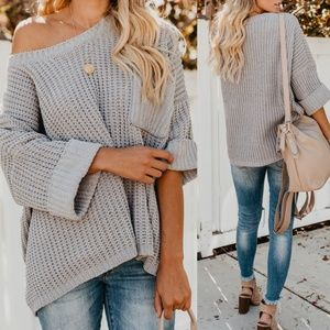 Pocket Boxy Sweater Top